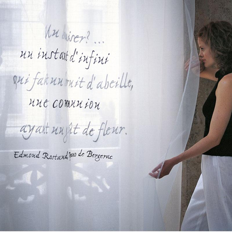 Mastro Raphael Poems tenda lino e organza Edmond rostand 210 x 290
