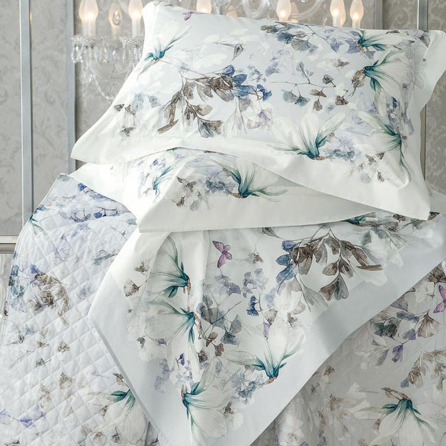 Blumarine Home Collection Magnolia Completo Lenzuola Matrimoniale