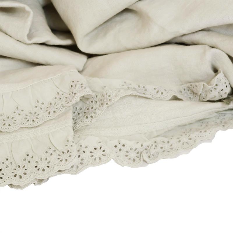 La fabbrica del lino copriletto matrimoniale patchwork genziana - La fabbrica del lino letto ...