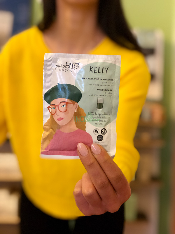 POWDER MASK KELLY PELLE SECCA  LATTE DI SPIRULINA 09